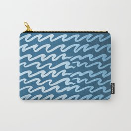 Abstract Waves - Blue Raspberry Shimmer on Saltwater Taffy Teal Carry-All Pouch