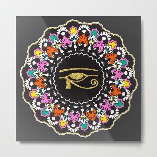 Eye of Horus Mandala Metal Print