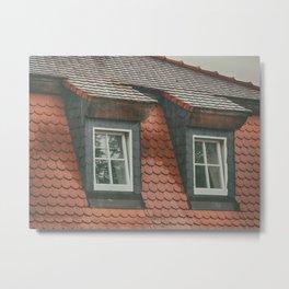 Two eaves on a German rooftop Metal Print