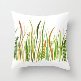Prairie Watercolor by Robayre Throw Pillow