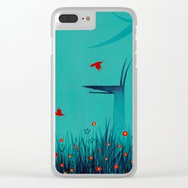 ghosts and birds Clear iPhone Case