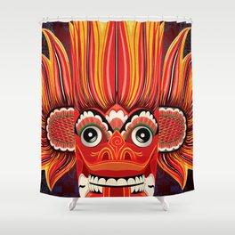 Sri Lankan Fire Demon Shower Curtain