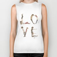 letters Biker Tanks featuring Love Letters by Meuphrosyne
