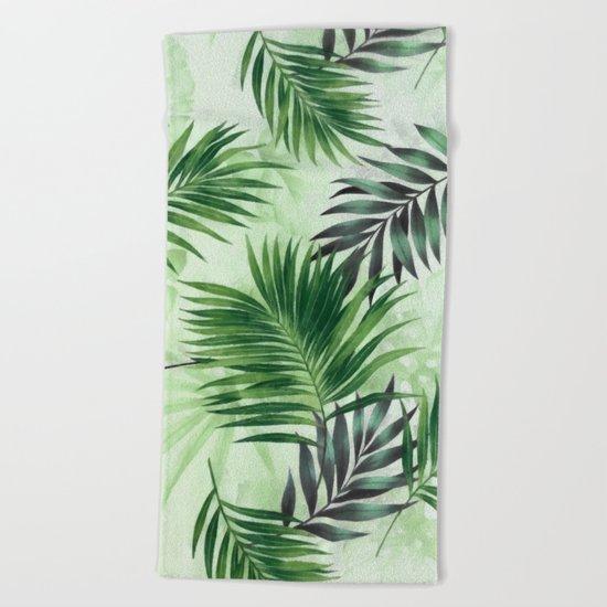 Palm leaves IV Beach Towel