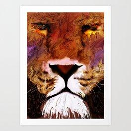 isabug's lion Art Print
