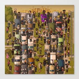Super Walking Dead: Highway Canvas Print