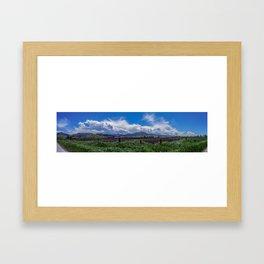 The Bridger Mountains, Outside Bozeman, Montana Framed Art Print
