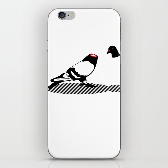 Pigeon and head iPhone & iPod Skin