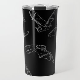 Flying Bats Pattern Travel Mug