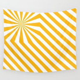 Stripes explosion - Yellow Wall Tapestry