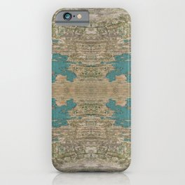 Rustic Wood - Weathered Wooden Plank - Beautiful knotty wood weathered turquoise paint iPhone Case