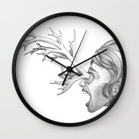 fawn Wall Clocks featuring Fawn by Tooth & Arrow Co