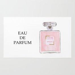 Classic Eau de parfum perfume pink minimal bottle Rug