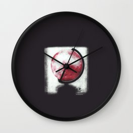 The world Globe - photopolymer/gravure Wall Clock