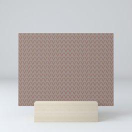 Cavern Clay SW 7701 V Shape Horizontal Lines on Slate Violet Gray SW9155 Mini Art Print