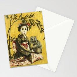 Vintage Geisha And Demon Stationery Cards