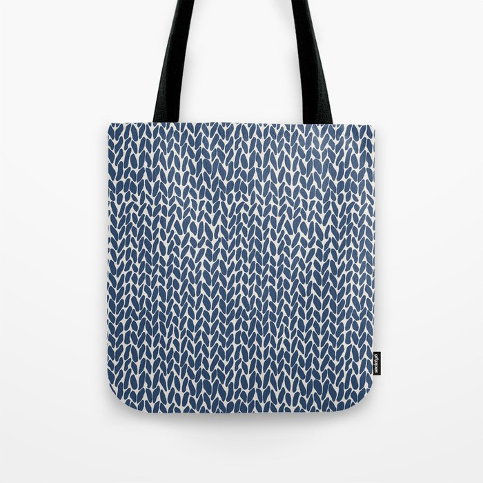 f2d6d696a307e Hand Knit Navy Tote Bag by projectm