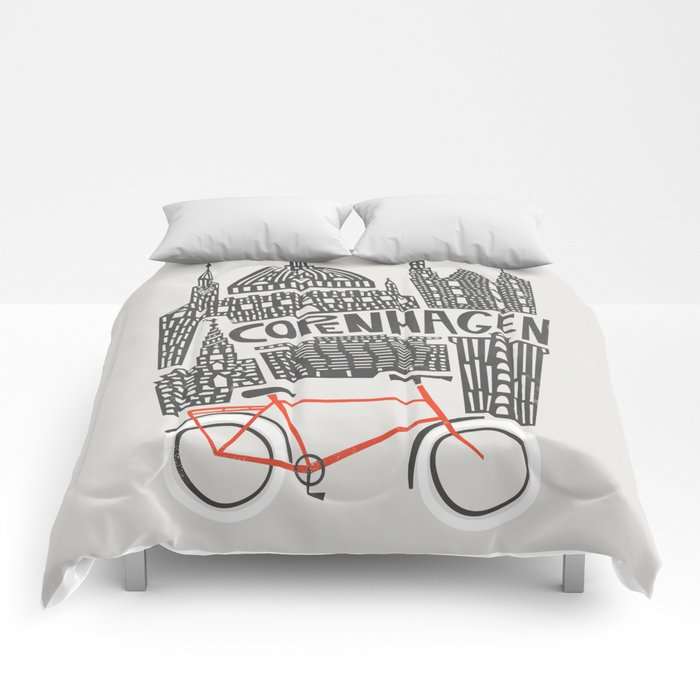 Copenhagen Cityscape Comforters