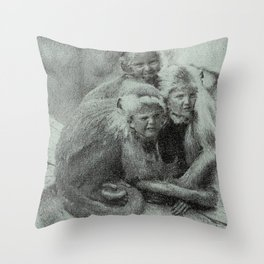 Monkey Children Throw Pillow