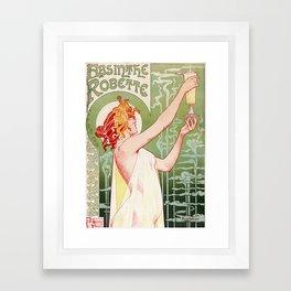 Absinthe Robette Poster- Henri Privat-Livemont Framed Art Print