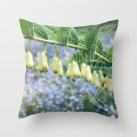 fairies Throw Pillows featuring Fairies' necklace by Dominique Gwerder