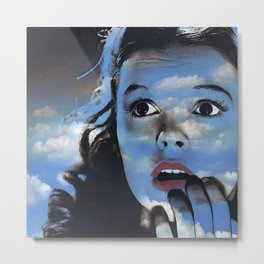 Judy in Clouds II Metal Print