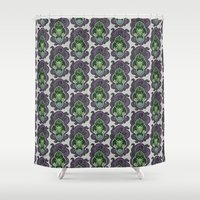 cthulhu Shower Curtains featuring Cthulhu by AvisNoctem