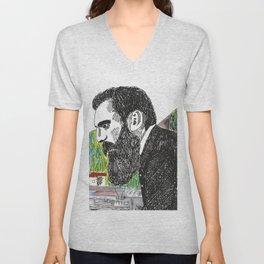 Theodor Herzl - Basel Unisex V-Neck