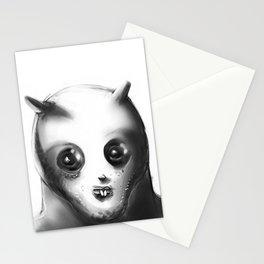 cartoon style alien illustration Stationery Cards
