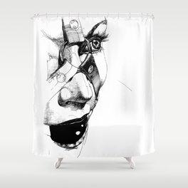 Ball Gagged Shower Curtain
