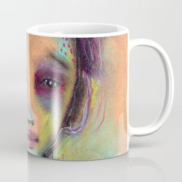 Original Chalk Pastel Illustration by Jenny Manno Coffee Mug