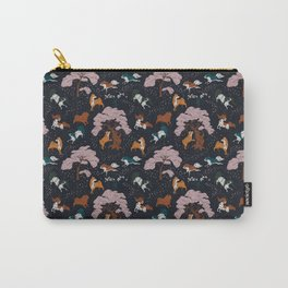 Cherry Blossom and Dog Dance Carry-All Pouch