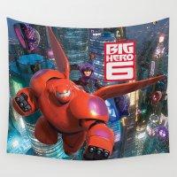 big hero 6 Wall Tapestries featuring Big Hero 6  by store2u