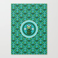 8bit Canvas Prints featuring 8bit Deco by Bubblegun