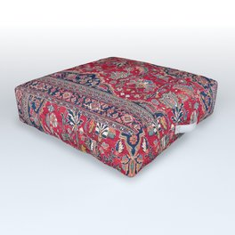 Bijar Kurdish Northwest Persian Rug Print Outdoor Floor Cushion