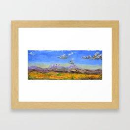 The Mexican Landscape Paisaje Mexicano by Juan Manuel Rocha Kinkin Framed Art Print