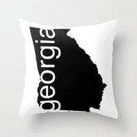 georgia Throw Pillows featuring Georgia by Isabel Moreno-Garcia