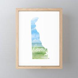 Delaware Home State Framed Mini Art Print