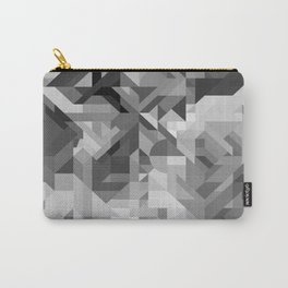 Black / White and Gray Scale Geometric Geometry Shape Pattern Carry-All Pouch