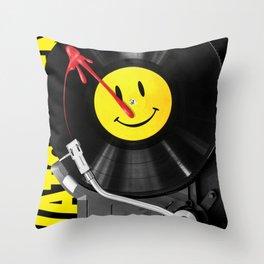 """""""Bloody Turntable"""" Watchmen fan art Throw Pillow"""
