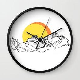 Rockies Ridge :: I Wall Clock