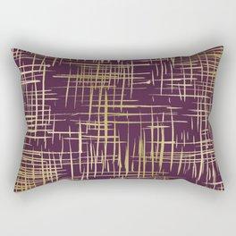 Crosshatch Plum Rectangular Pillow