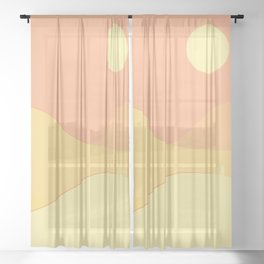 Warm landscape Sheer Curtain
