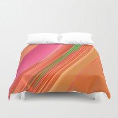 Peach Apricot Mango Bold Stripes Duvet Cover