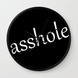 Asshole Logo Wall Clock