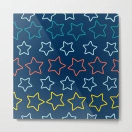 Colorful stars aligned Metal Print