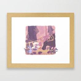 How To Pet A Moose Framed Art Print