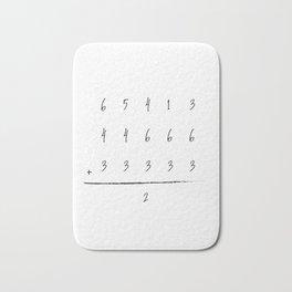 Baseball Math Team Player Game Score Board Bath Mat