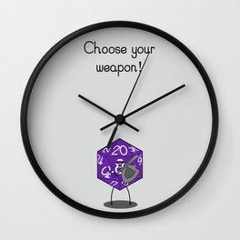 Warrior Dice Wall Clock