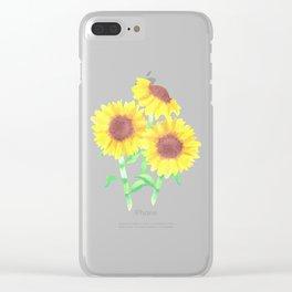 watercolor sunflower bouquet Clear iPhone Case